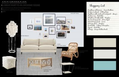 Gold Mood Board From Sea Interior Design